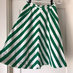 Anthro Cotton Skirt with Pockets